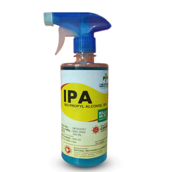 IPA- Isopropyl Alcohol 70% with spray Nozzle