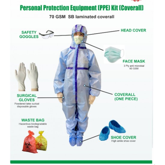 PPE KIT (Personal Protective Equipment Kit ) Covid Protection