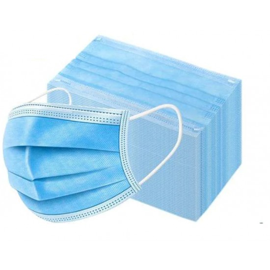 3 Ply Disposable Safety Masks Premium Quality Pack of 500  ( 500 Pices )